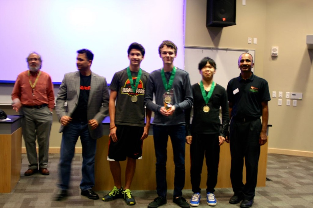 First Place Advanced - Cy Woods  - All six problems solved in 376 minutes.