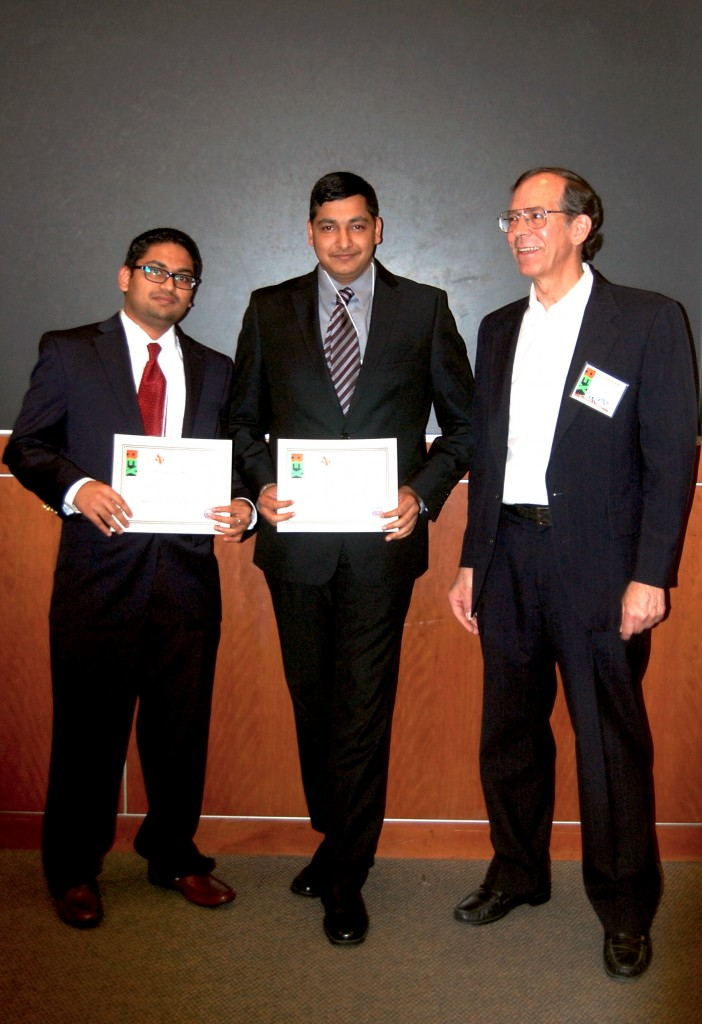 Prof. John Cole, Kishan Patel, and Harit Shah (University of Houston) - Honorable Mention in the poster presentations.