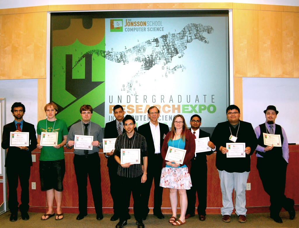The winners of the 2015 Undergraduate Research Expo in Computer Science