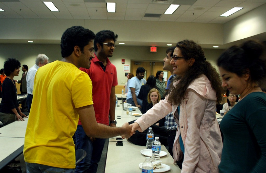 Dr. Pushpa Kumar started the talk off asking students to introduce themselves to each other.