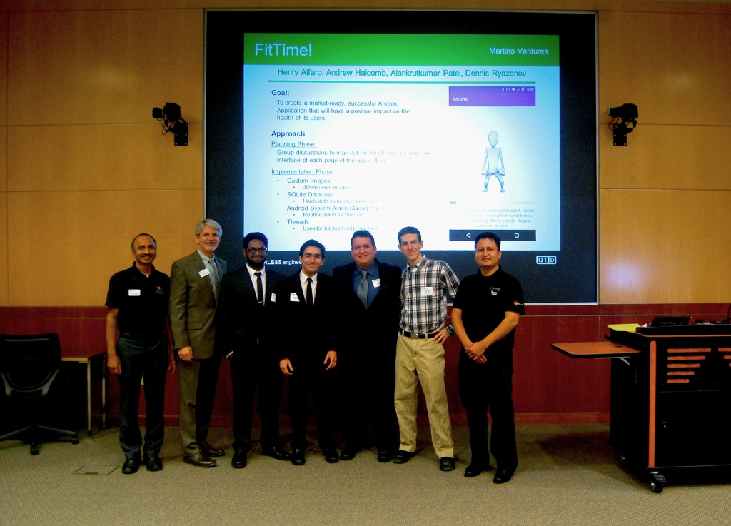 UTDesign Expo CS  Spring 2015 1st Place FitTime!