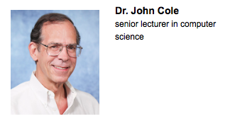 Dr. John Cole Teaching award 2015