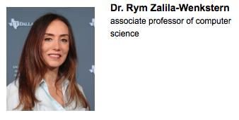 Dr. Rym Wenkstern Exceptional Teacher 2015