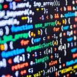 Programming Language colorful Stock