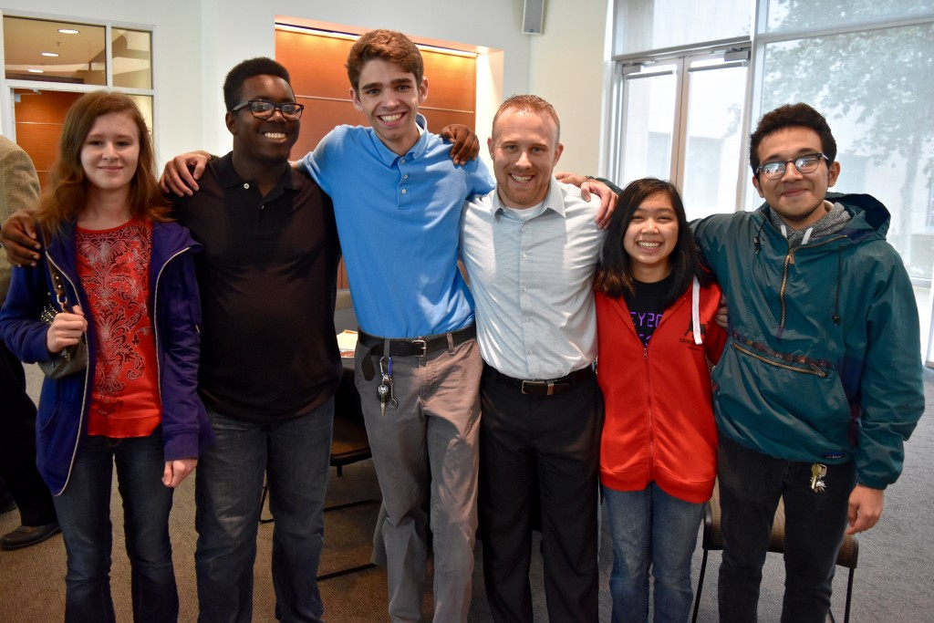 Aaron Cadle and four former students turned UT Dallas CS students.