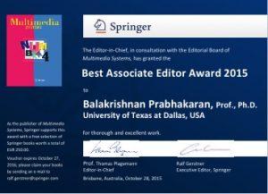 Prabha Best Assoc editor 2015