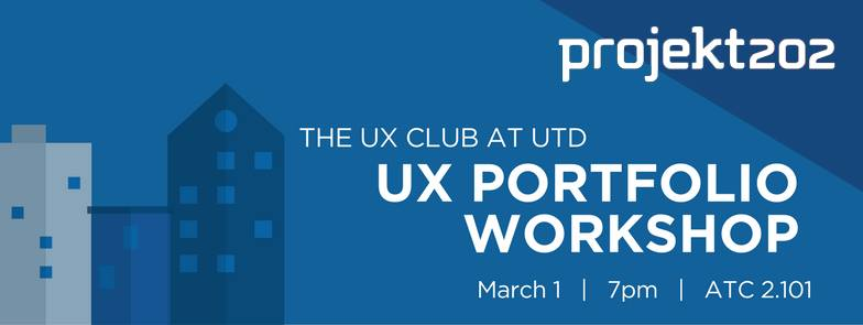 UX Portfolio Workshop with Projekt202