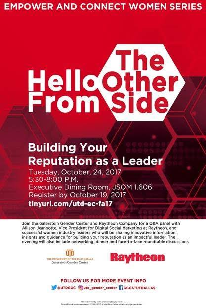 Empower & Connect Series with Raytheon - A Networking Event hosted by the Galerstein Gender Center @ JSOM 1.606 | Richardson | Texas | United States